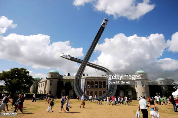 A general view at the Cartier Style Luxe lunch at the Goodwood Festival of Speed on July 5 2009 in Chichester England Pic shows Goodwood House