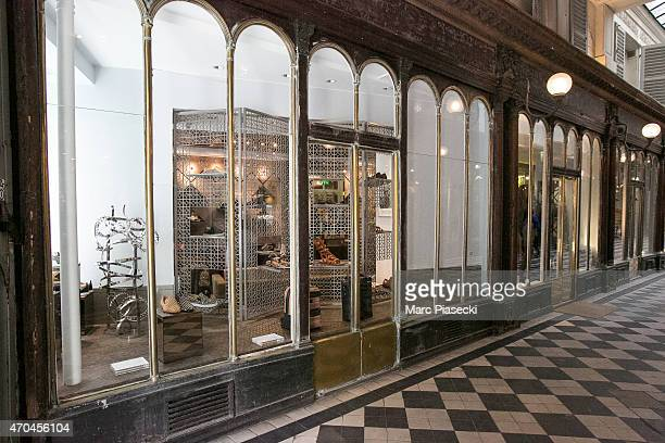 A general view at the 'Christian Louboutin' mens shoes store on April 20 2015 in Paris France