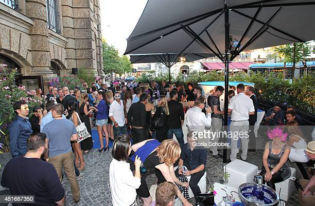A general view at the CIROC VODKA Masquerade Night at Heart on July 3 2014 in Munich Germany