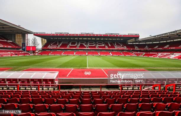 General View at The City Ground home of Nottingham Forest FC during the Sky Bet Championship match between Nottingham Forest and Blackburn Rovers at...