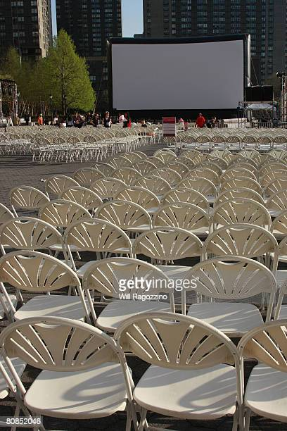 A general view at the drivein presentation of 'Thriller' during the 2008 Tribeca Film Festival on April 24 2008 in New York City