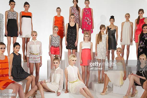 General view at the Erin by Erin Fetherston Spring 2012 presentation during Mercedes Benz Fashion Week at Milk Studios on September 10, 2011 in New...