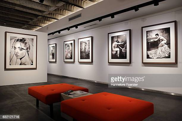General view at the exhibition of the german photographer Vincent Peters at Leica Gallery Frankfurt on January 19 2017 in Frankfurt am Main Germany