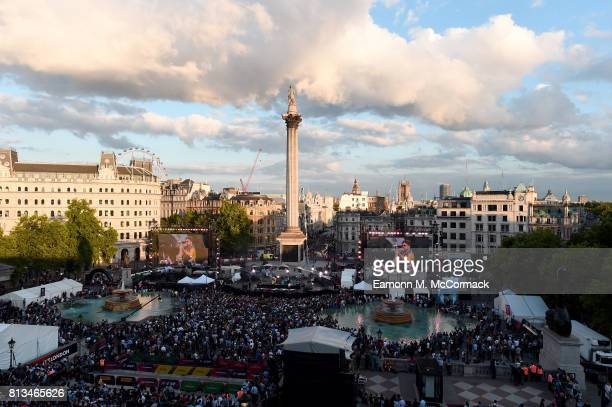 General view at the F1 Live in London event at Trafalgar Square on July 12 2017 in London England F1 Live London the first time in Formula 1 history...