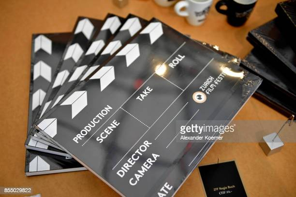 A general view at the festival shop ahead the 13th Zurich Film Festival on September 28 2017 in Zurich Switzerland The Zurich Film Festival 2017 will...