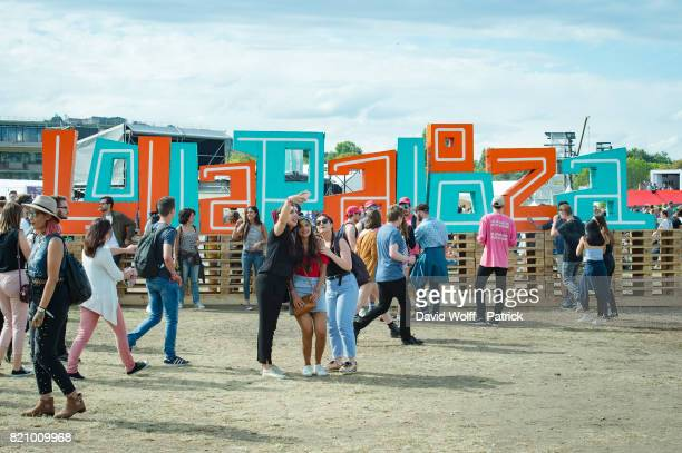 General view at the first Lollapalooza in France at Hippodrome de Longchamp on July 22 2017 in Paris France