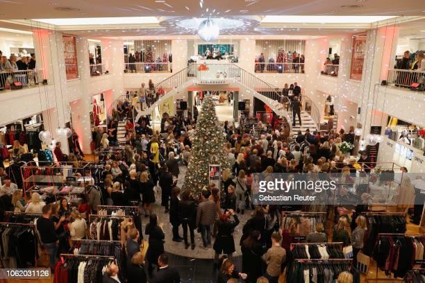 A general view at the GALA Christmas Shopping Night at Alsterhaus on November 15 2018 in Hamburg Germany