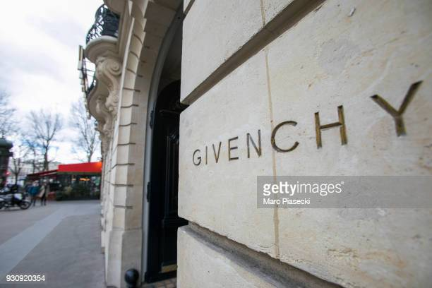 A general view at the 'Givenchy' office building on Avenue George V on March 12 2018 in Paris France Hubert de Givenchy the French fashion designer...