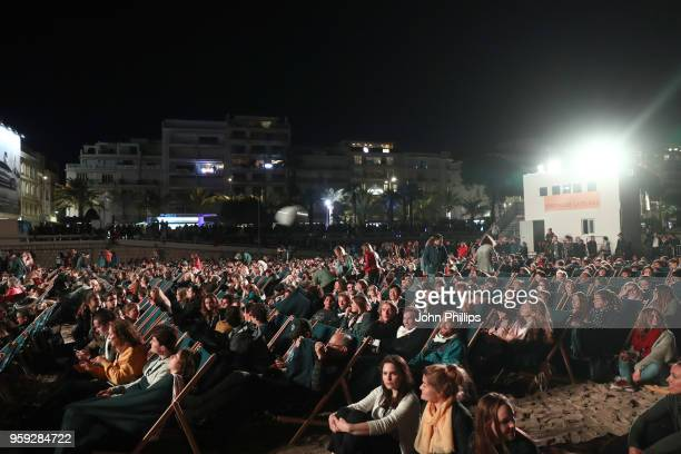 A general view at the 'Grease' 40th Anniversary Screening during the 71st annual Cannes Film Festival at on May 16 2018 in Cannes France