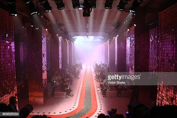 A general view at the Gucci show during Milan Fashion Week Spring/Summer 2017 on September 21 2016 in Milan Italy
