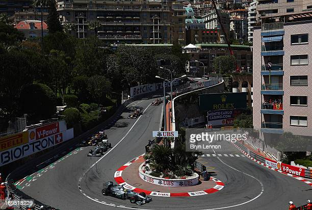 General view at the hairpin during the Monaco Formula One Grand Prix at the Circuit de Monaco on May 26 2013 in MonteCarlo Monaco