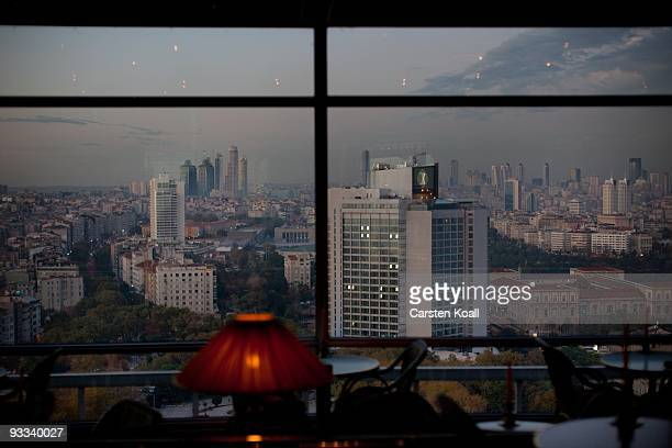 General view at the Hilton Hotel in the business district Sisli on October 20, 2009 in Istanbul, Turkey. The Turkish metropolis on the Bosphorus, in...