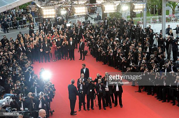 A general view at the 'Jeune Jolie' premiere during The 66th Annual Cannes Film Festival at the Palais des Festivals on May 16 2013 in Cannes France