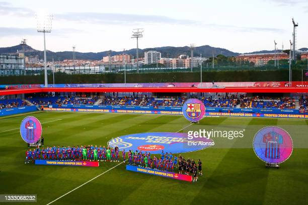 General view at the Joan Gamper Trophy match between FC Barcelona and Juventus at Estadi Johan Cruyff on August 08, 2021 in Barcelona, Spain.