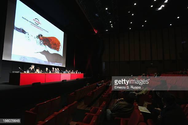 A general view at the Jury Opera Prima And Seconda And Cinemaxxi Meet The Audience during the 7th Rome Film Festival at the Auditorium Parco Della...