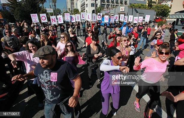 A general view at the kickoff for One Billion Rising in West Hollywood on February 14 2013 in West Hollywood California