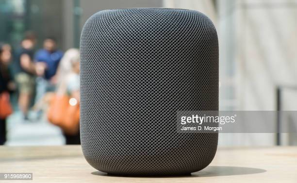 General view at the launch of the HomePod at the Apple Store on February 9 2018 in Sydney Australia Apple's latest innovation released in the US UK...