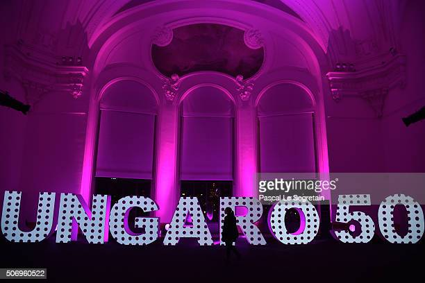 General view at the Launch Of The New Fragrance 'La Diva' And 50th Anniversary Of Emanuel Ungaro at Le Petit Palais on January 26, 2016 in Paris,...