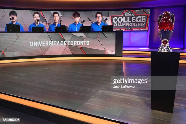 A general view at the League of Legends College Championship between Maryville and the University University of Toronto at the NA LCS Studio at Riot...
