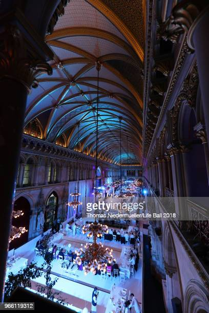 A general view at the LIFE Solidarity Gala prior to the Life Ball at City Hall on June 2 2018 in Vienna Austria The Life Ball an annual charity event...