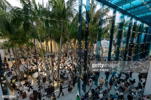 General View at the Miami Symphony Pop Up Series in Palm Court at the Design District on March 10 2017 in Miami Florida