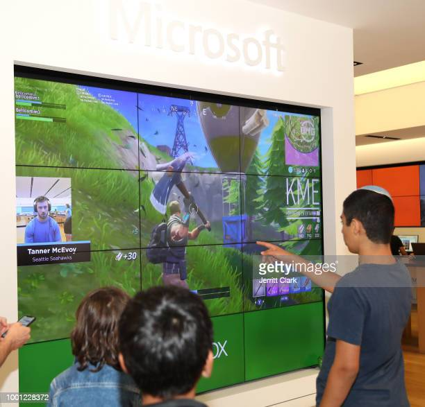 General view at the Microsoft Stores Pro Player Charity Fortnite Duos Tournament Presented By Kor Media Entertainment at Microsoft Store on July 17...
