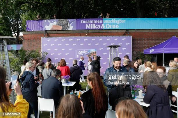 General view at the Milka Charity Blobbing-Event at Hamburger Stadtpark on May 22, 2019 in Hamburg, Germany.