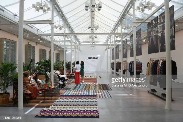 General view at the Missoni presentation during the Milan Men's Fashion Week Spring/Summer 2020 on June 15, 2019 in Milan, Italy.