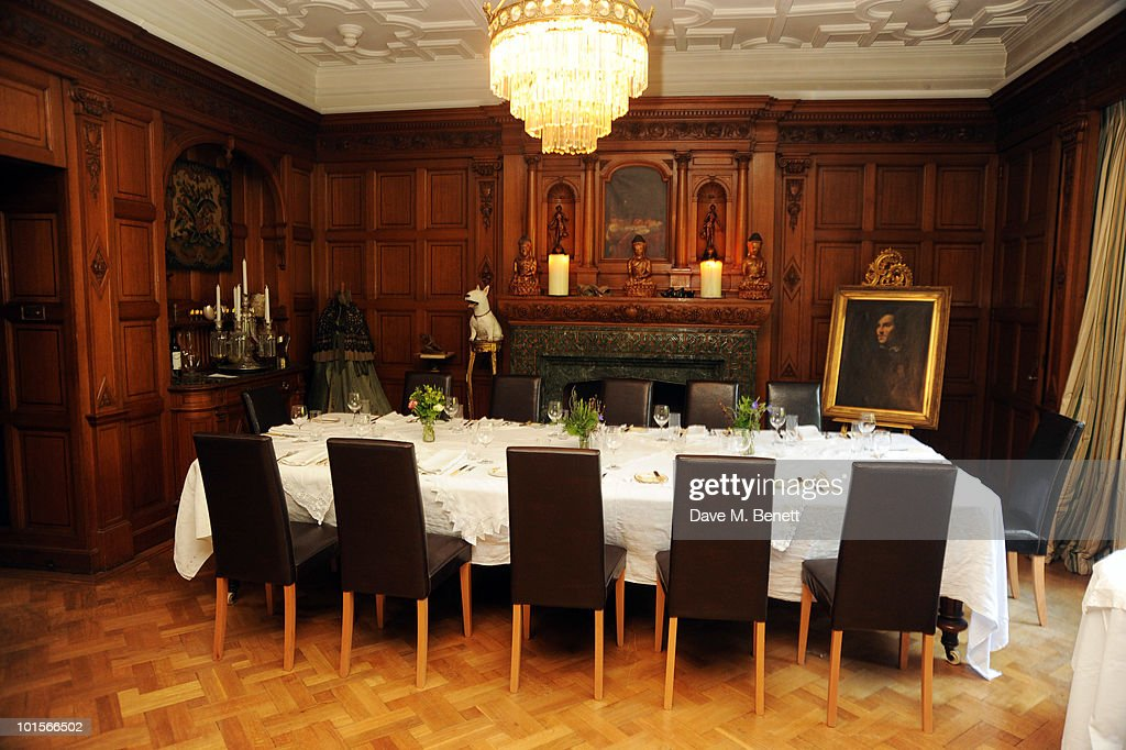 A general view at the Mrs Paisley's Lashings private dinner on June 2, 2010 in London, England.