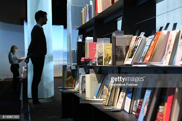 General view at the Netherlands Pavillion of the 2016 Frankfurt Book Fair on October 18 2016 in Frankfurt am Main Germany The 2016 fair which is...