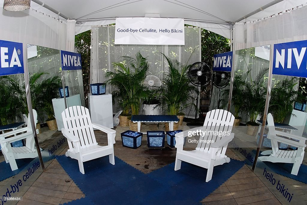 DHL At MBFW Miami Swim  News Photo & A general view at the Nivea tent at the Raleigh Hotel during... News ...