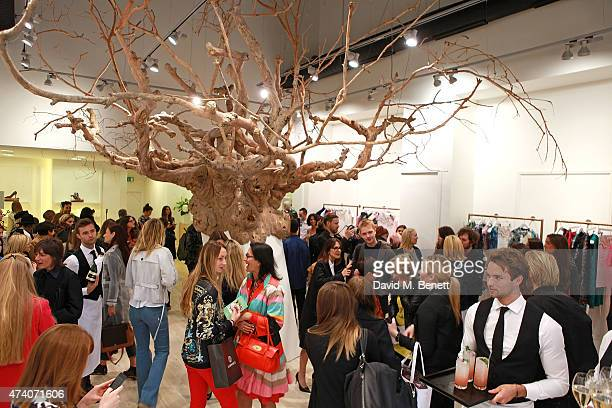 General view at the official launch of the British Designers Collective at Bicester Village on May 20 2015 in Bicester England