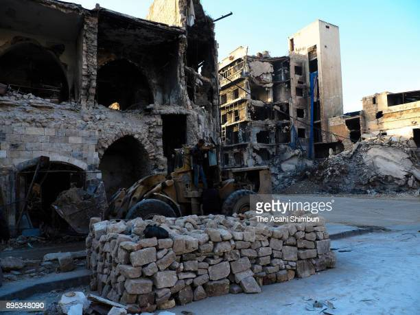 A general view at the old town on December 12 2017 in Aleppo Syria Bashar alAssad administration backed by Russia recaptured the area in December 2016