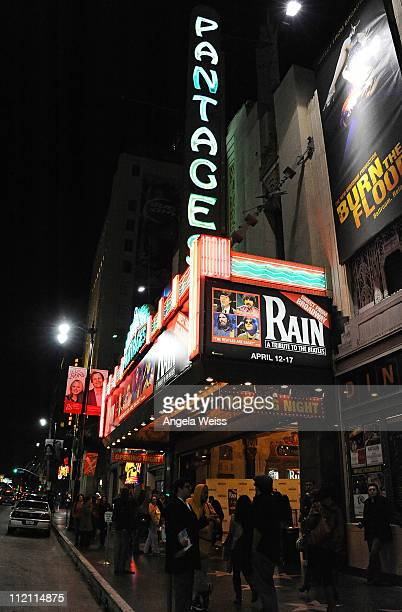 A general view at the opening night of 'Rain A Tribute To The Beatles' at the Pantages Theatre on April 12 2011 in Hollywood California