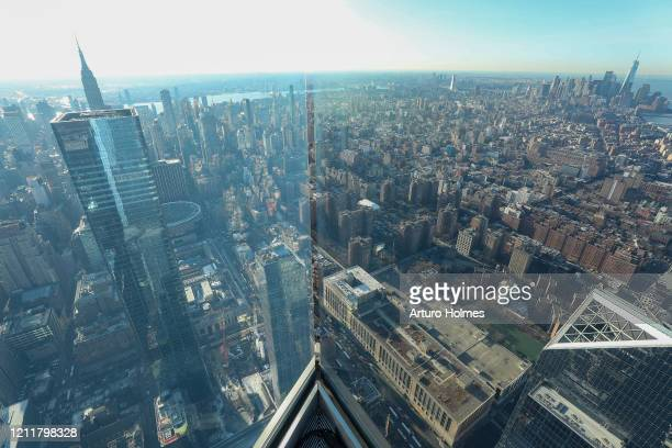 General view at the opening of Edge the Western Hemisphere's highest outdoor sky deck on March 11 2020 in New York City