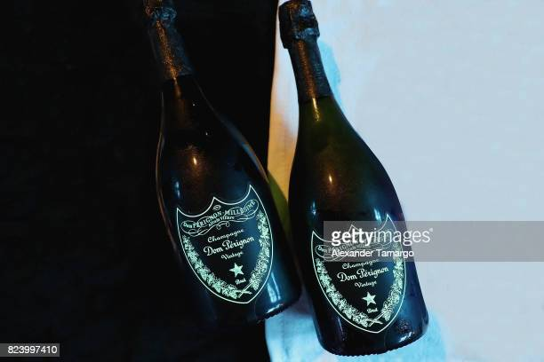 General view at the Paris SaintGermain vs Juventus After Party Presented By Mot Hennesy ft Flo Rida with Belvedere Hennessy and Dom Prignon at Wall...