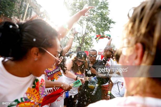 General view at the Red Bull Music Academy x Mangrove float at Notting Hill Carnival on August 28 2017 in London England