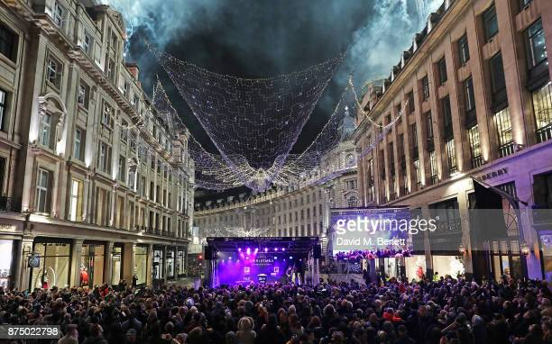 A general view at the Regent Street Christmas Lights switch on event with Heart FM on November 16 2017 in London England