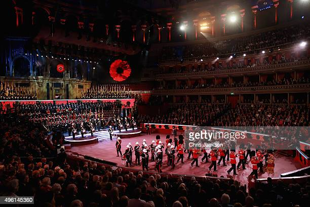 A general view at the Royal Albert Hall during the Annual Festival of Remembrance on November 7 2015 in London England