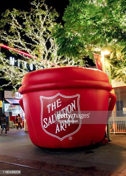 A general view at the Salvation Army's presentation of the 2019 celebrity Red Kettle Kickoff honoring Danny Trejo on December 06 2019 at The Original...