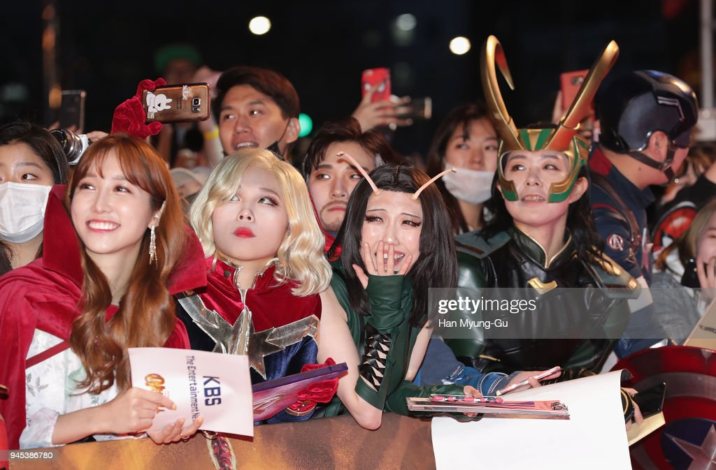A general view at the Seoul premiere of 'Avengers Infinity War' on April 12, 2018 in Seoul, South Korea.