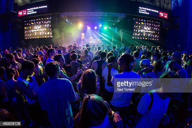 A general view at the Sonar Music Festival on June 12 2014 in Barcelona Spain