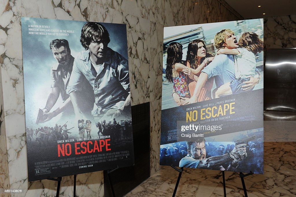 general view at the special screening of NO ESCAPE with Owen Wilson, Lake Bell and Pierce Brosnan at Dolby 88 Theater on August 24, 2015 in New York City.