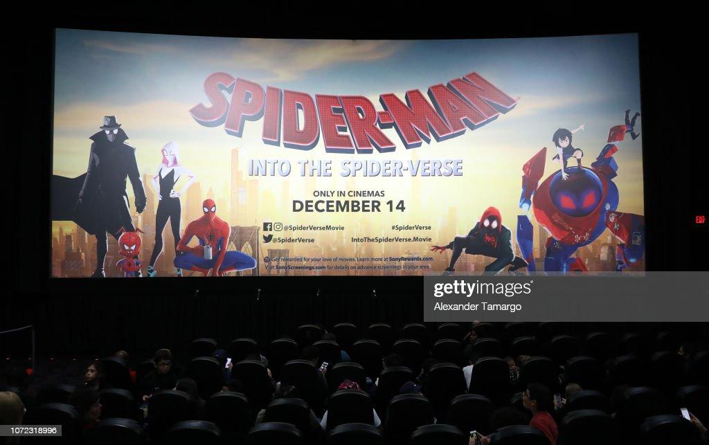 Spider-Man: Into the Spider-Verse - Miami Red Carpet Screening With Shameik Moore, Luna Lauren Velez And Jake Johnson : News Photo