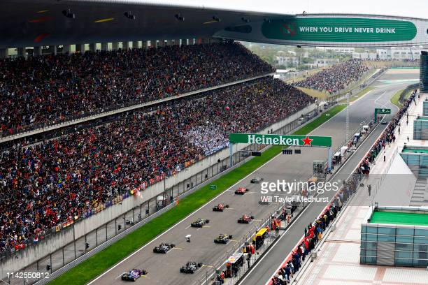 A general view at the start of the race during the F1 Grand Prix of China at Shanghai International Circuit on April 14 2019 in Shanghai China