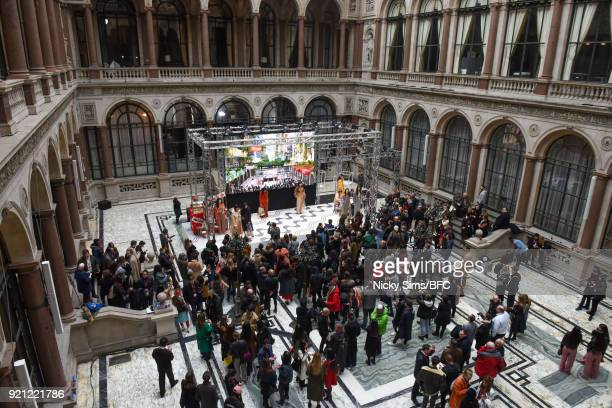 A general view at the steventai presentation during London Fashion Week February 2018 at British Foreign and Commonwealth Office on February 18 2018...
