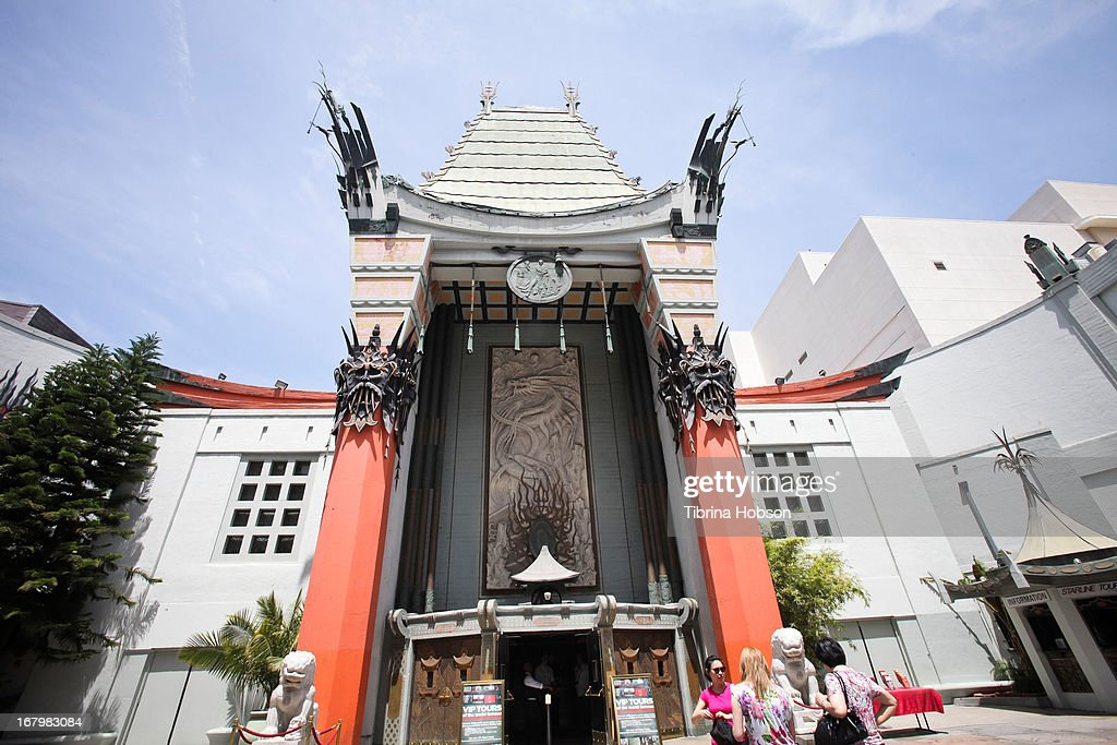 General view at the TCL Chinese Theatre groundbreaking IMAX hard hat launch at TCL Chinese Theatre on May 3, 2013 in Hollywood, California.