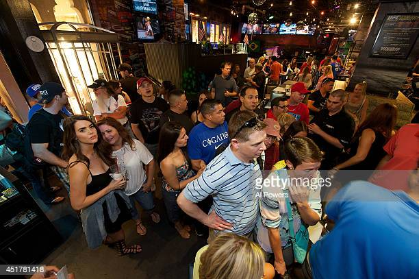 A general view at the UFC Brazilian party during UFC International Fight Week inside the Rockhouse at The Venetian Las Vegas on July 3 2014 in Las...