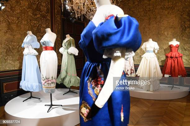 General view at the Ulyana Sergeenko Presentation as part of Paris Fashion Week Haute Couture Spring Summer 2018 show as part of Paris Fashion Week...