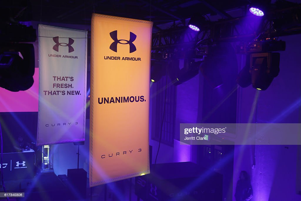General view at the Under Armour Curry 3 Launch at Skylight Powerhouse on October 22, 2016 in the Bay Area, California.